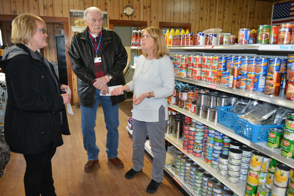 Officials tour fish pantry learn about group oxford leader for Fish food pantry