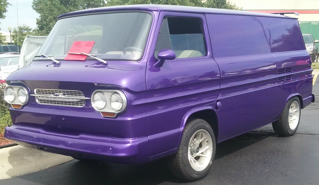 Kurt Graham's 1963 Corvair Panel Van is painted plum purple with a dark purple and silver interior as a tribute to Led Zeppelin. Photo provided.