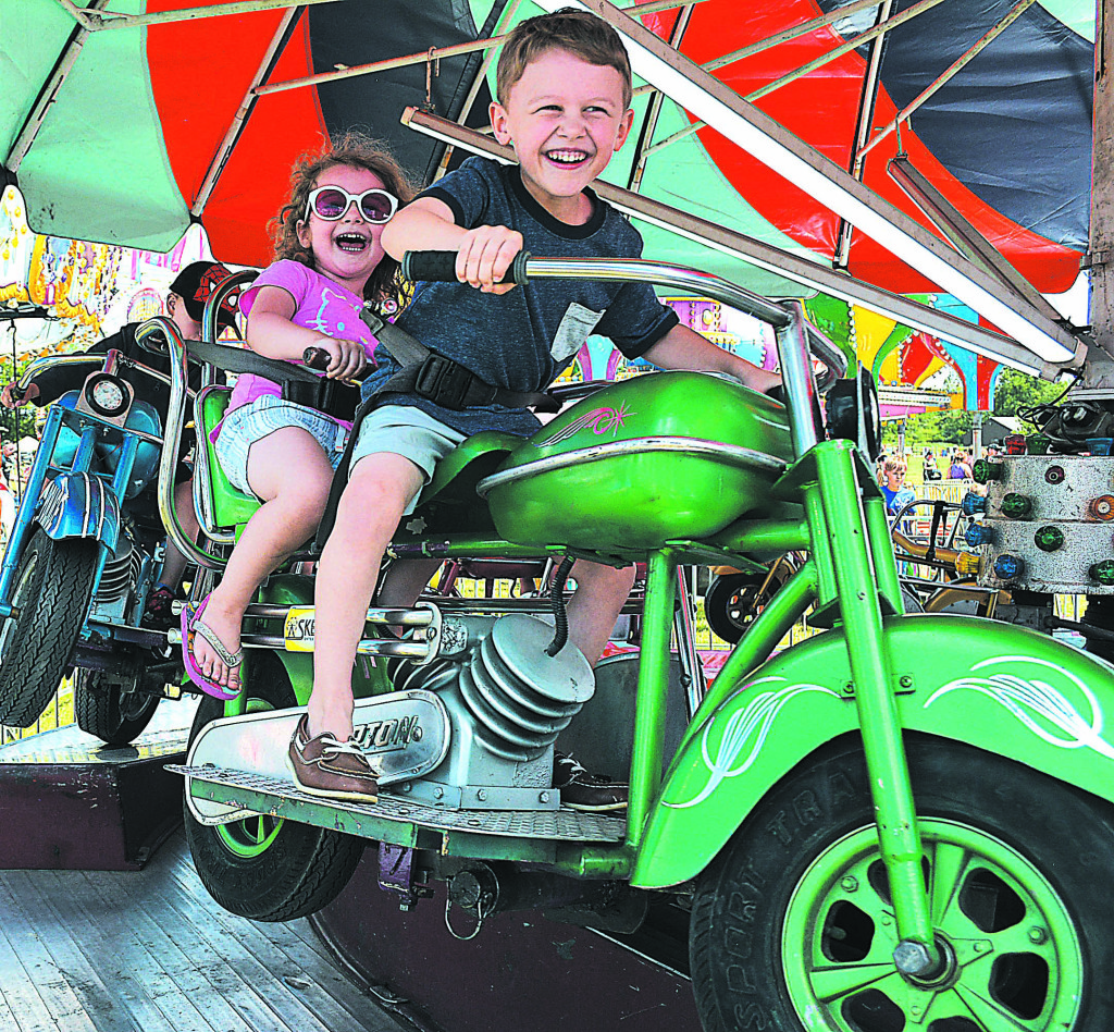 Born to be wild are Oxford siblings Thomas and Emma VanHaaren.