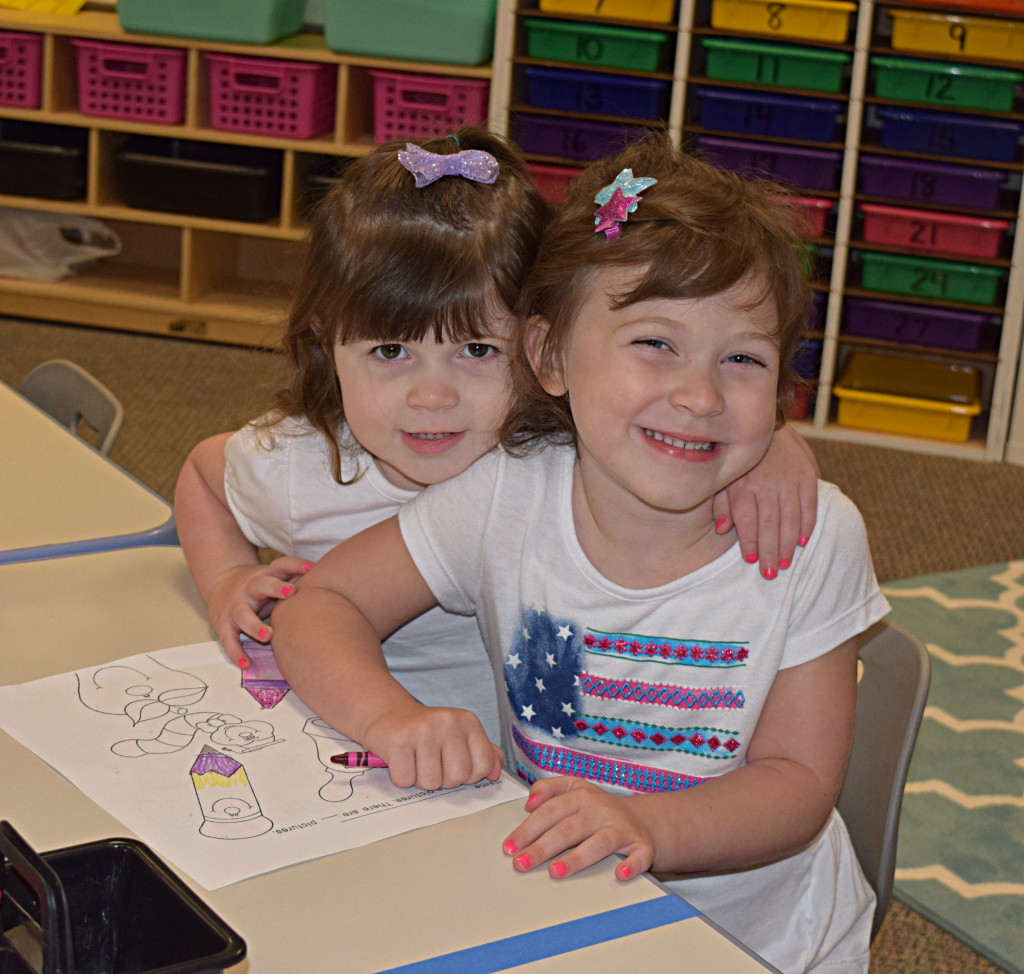 Peyton Wilson (3), Kennedy Wilson (Kindergarten)