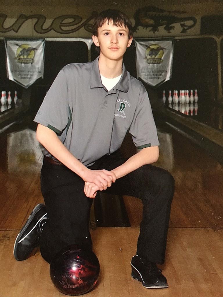 Matt Maskill during his bowling days at LOHS.