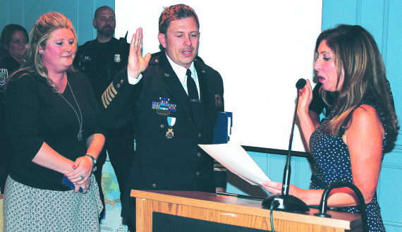 Hail to the Chief!: Solwold sworn in as village's top cop