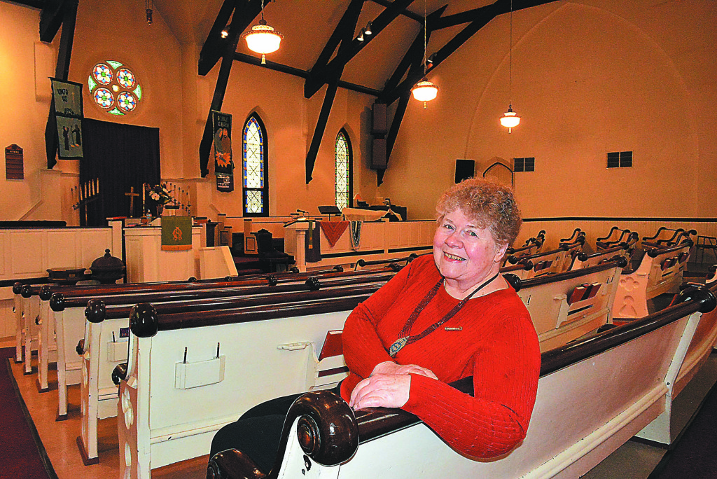 Pastor Liz Wilson is inviting folks to bring their pets to a special blessing Oct. 15. Photo by C.J. Carnacchio.