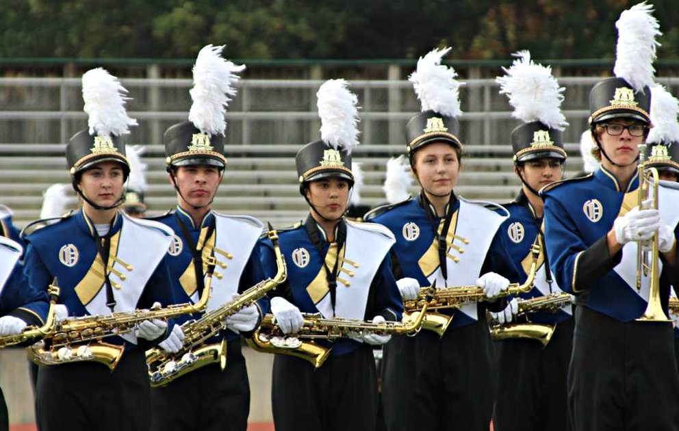 OHS Marching Band members (from left) Ellen Olheiser, Jordan Socha, Ashley Murphy, Natalie Morehouse, Brandon Hiscox and Kyle Gerstenberger. Photo provided.