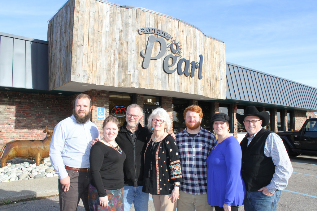 Meet the family that owns and operates Concho Pearl – (from left) Nolan Dunlap, Danika Dunlap, Michael Spake, Mary Laughlin, Kelby Spake, Lee Ann and John Young.
