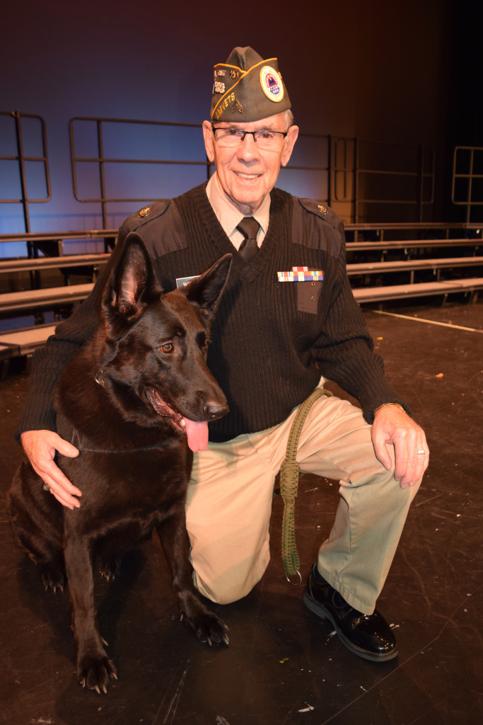 Phil Weitlauf, president and director of Michigan War Dog Memorial, and his dog Ziva. Photo by C.J. Carnacchio.