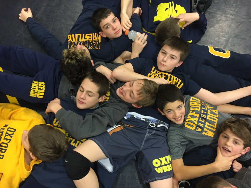 Camaraderie is one of the big benefits to being part of Oxford Youth Wrestling Clubs.