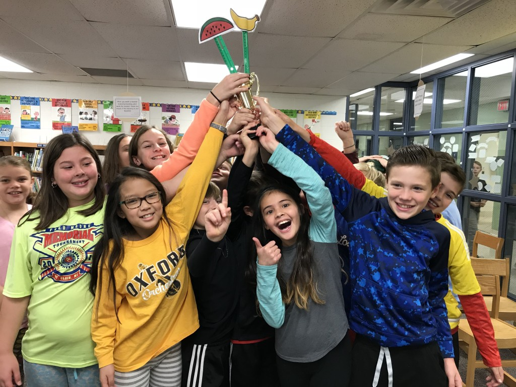Some lucky students at Clear Lake Elementary got a crash course in financial literacy. Among them were fifth-graders Emily Spivey, Isabella Hurst, Jenna Duong, Brenna Tonkovich, Archer Anderson, Dana Lee, Liam O'Neill and Cole Hudson. Photo provided.