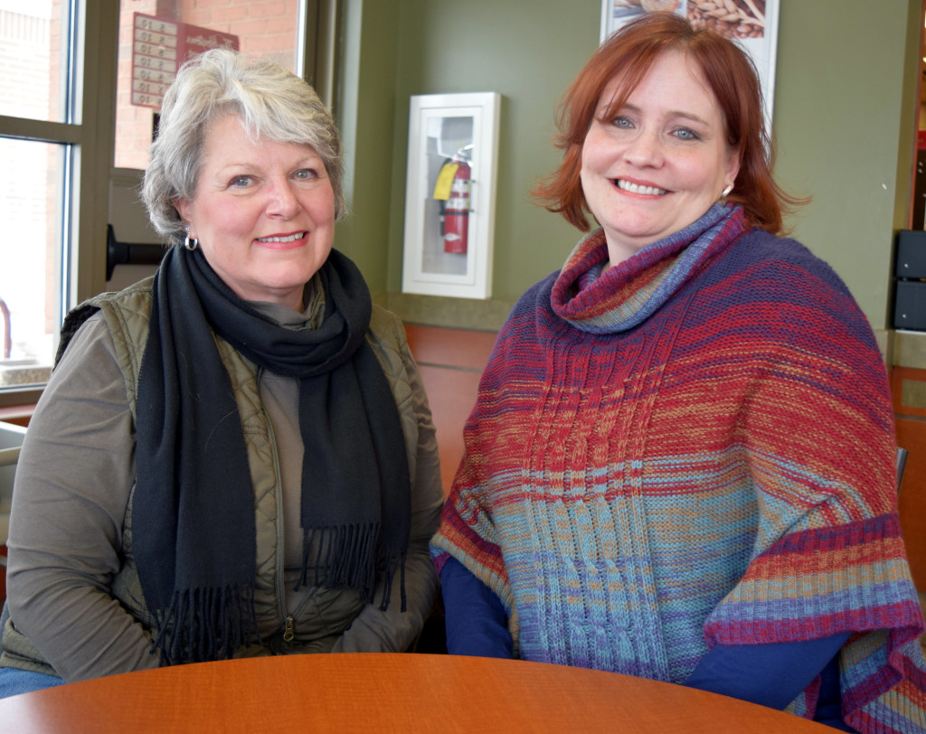 Oxford resident Linda Noaker (left) and Dawn Ames, of Lake Orion, are two of the founders of the new Lake Orion-Oxford Community Group, part of the Michigan Abolitionist Project. Photo by Elise Shire.