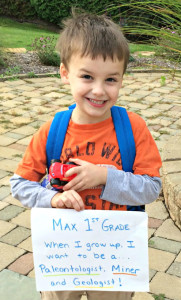 Max Van de Vyver, a first-grader in the Oxford Virtual Academy program, wants to collect 50,000 pairs of shoes for Soles4Souls. So far, he's got more than 2,500 pairs. Photo provided.
