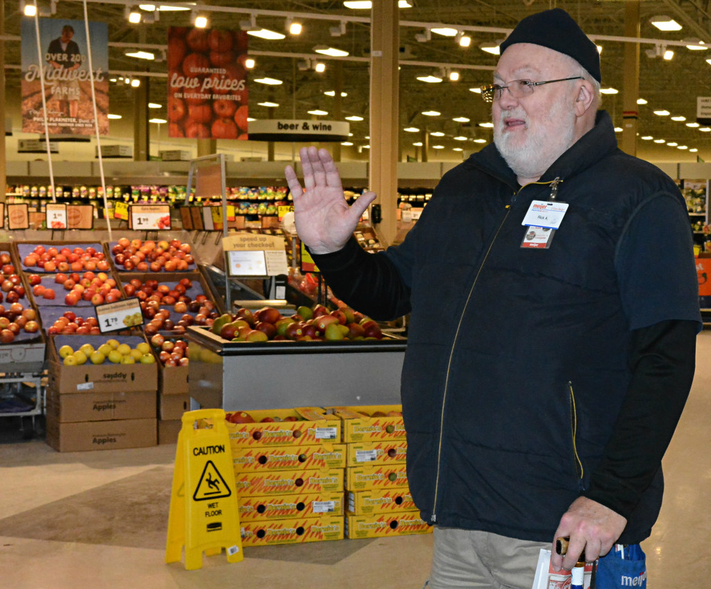 A familiar face at the Oxford Meijer since 2001, Rick Allen worked his last day as a store greeter on New Year's Eve. Photo by C.J. Carnacchio.