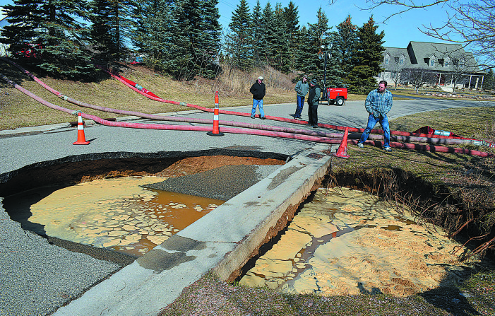 That some hole!: Culvert collapse leads to sinkhole, road closure