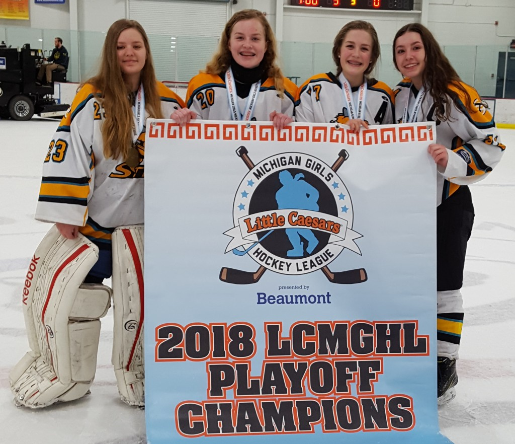 The champion 16U Troy Lady Sting include Lauren Reiss (from left), Alyssa Exline, Kylie Rancilio (a freshman at Oxford High School) and Lindsay Reiss. Photo provided.