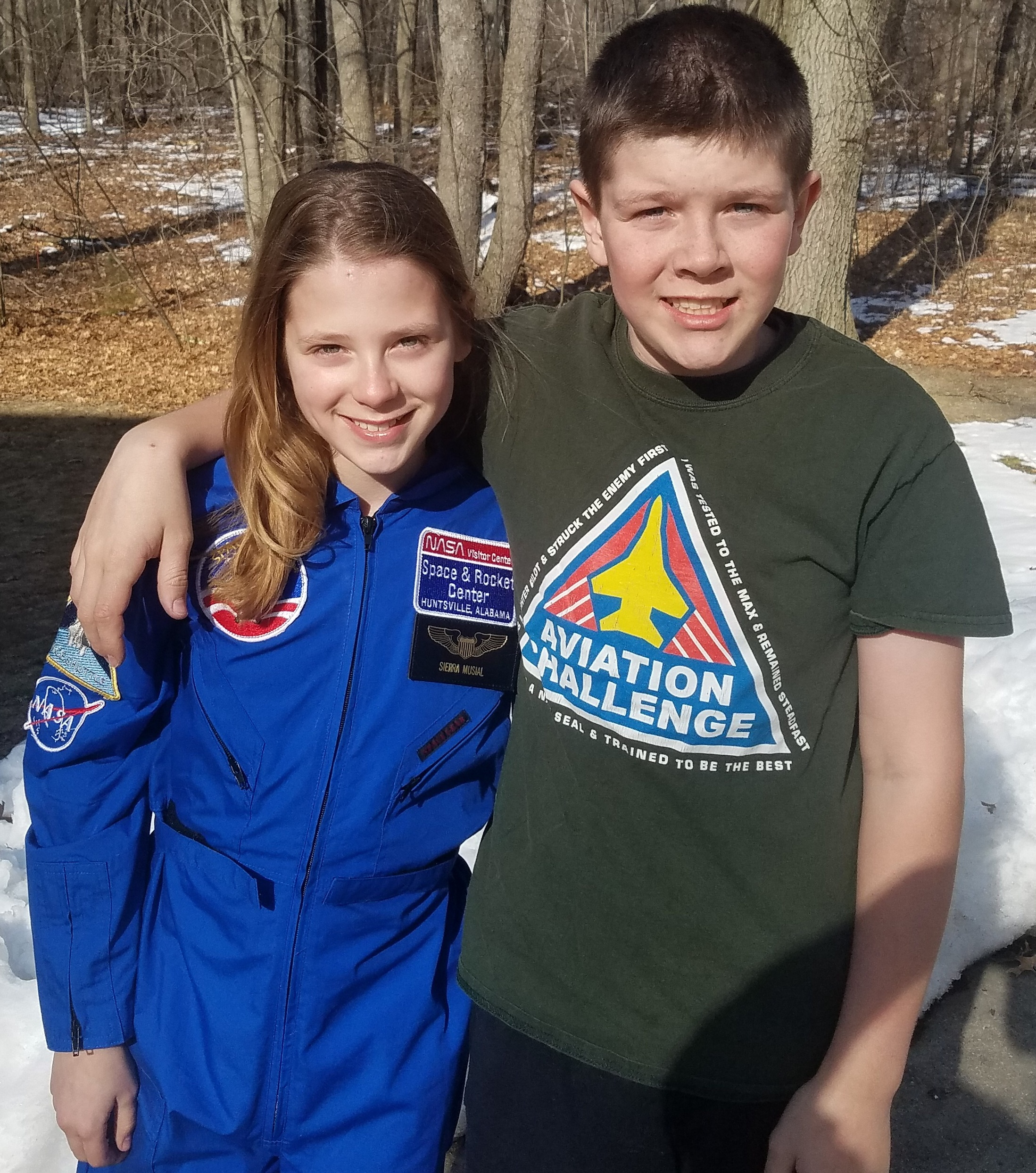 Leonard fifth-graders and siblings Sierra (left) and Cody Musial earned scholarships to attend Space Camp in Alabama.