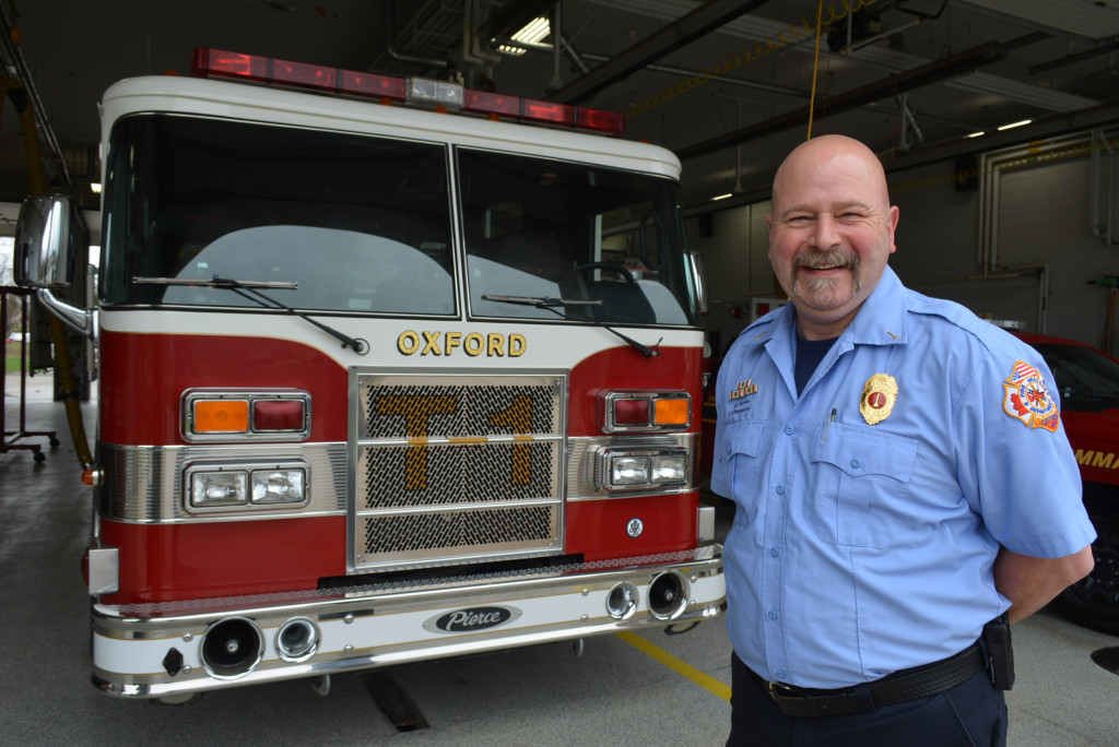 After 33 years with the Oxford Fire Department, Lt. Brad Horton, a 1981 Oxford High School graduate, is retiring. Photo by C.J. Carnacchio.