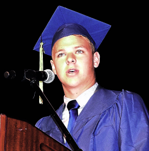 OHS senior Rick Galbraith served as Master of Ceremonies. Photo by  Elise Shire.
