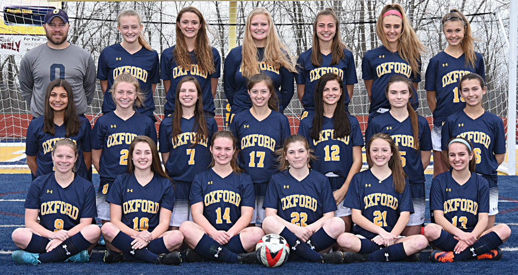 The Lady Wildcat varsity soccer team kicked off its season in March and now stands 8-6 overall. Shown in front are Leah Freiberg (from left), Caitlyn Hopman, Grace Brenner, Abby Walters, Sabrina Bucci and Paige Miller. In the center row are Mackenzie Methner, Jillian Beall, Lexi Dryps, Alexa Schramm, Megan Bouren, Kayla Doslak and Alyssa Kessler. In the back row are Head Coach Phil Kimmel, Micah Rolling, Ella Erskine, Megan Armbruster, Lauren Methner, Anne Culver and Genevieve Dare. Photo provided.