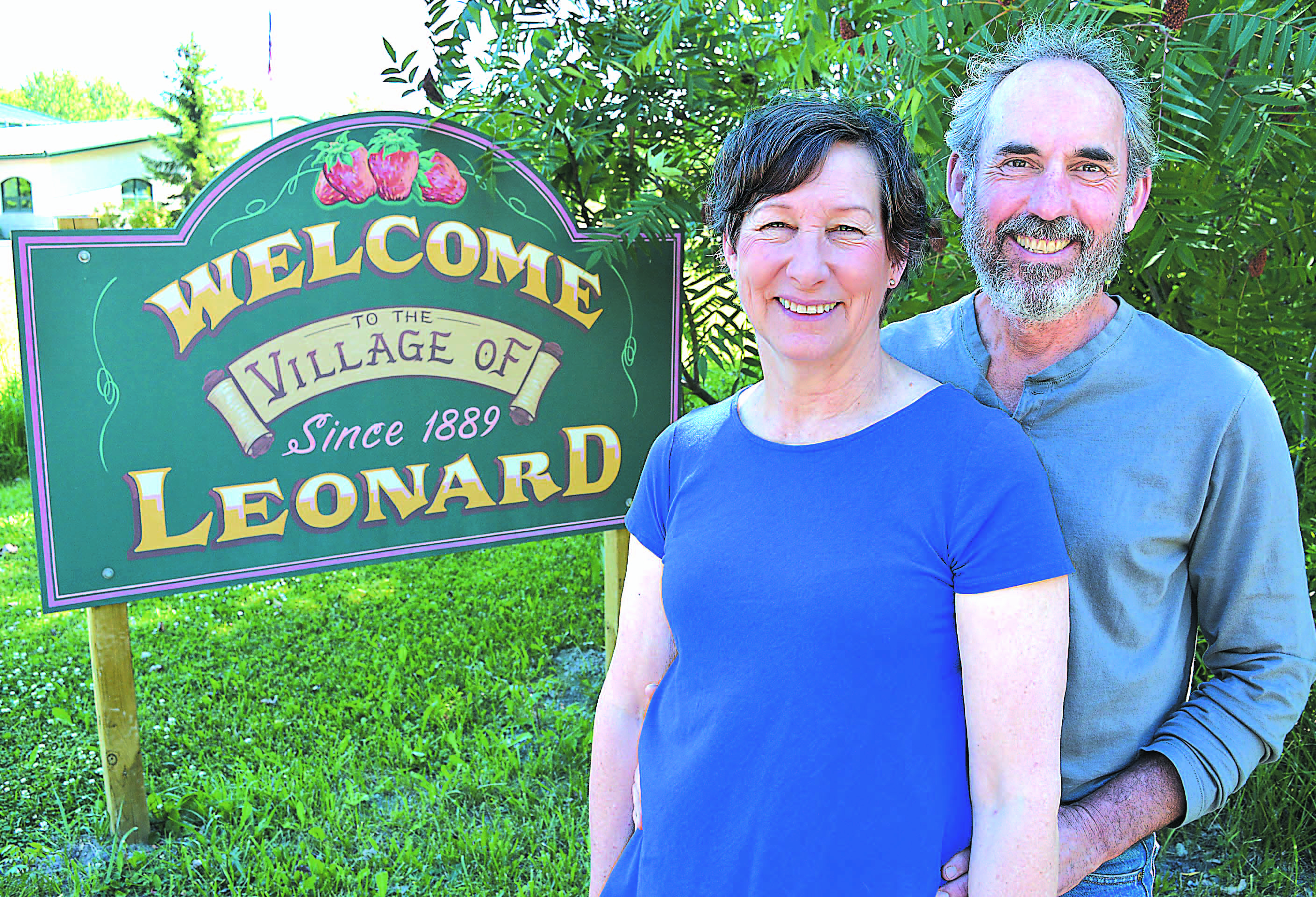 John and Lynn Boehmer will lead the Strawberry Festival parade in Leonard on July 21. Photo by C.J. Carnacchio.