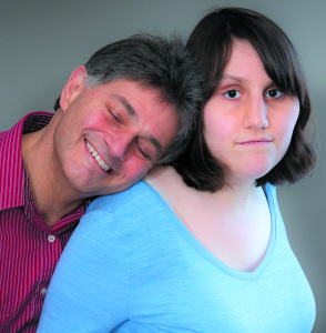 Sam Sottile (left) with his daughter, Leah, the inspiration for his new series of books.