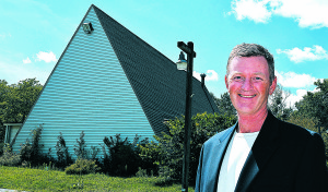 David Fulkerson, a 1985 Oxford High School graduate, is planning to demolish the former New Beginnings Baptist Church (shown in the background) at 985 N. Lapeer Rd. and build a 54,052-square-foot facility that offers assisted living and memory care for senior citizens. Photo by C.J. Carnacchio.