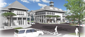 "Village Centre is designed to create ""the same emotional feeling as a little town center."" Image provided."