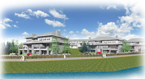 Village Centre would contain a total of 65 attached condo units. Image provided.