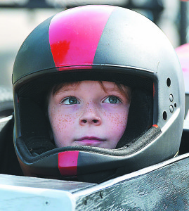 Emery Jones, a fourth-grader at Leonard Elementary, is fresh-faced and ready to race. Photo by C.J. Carnacchio.