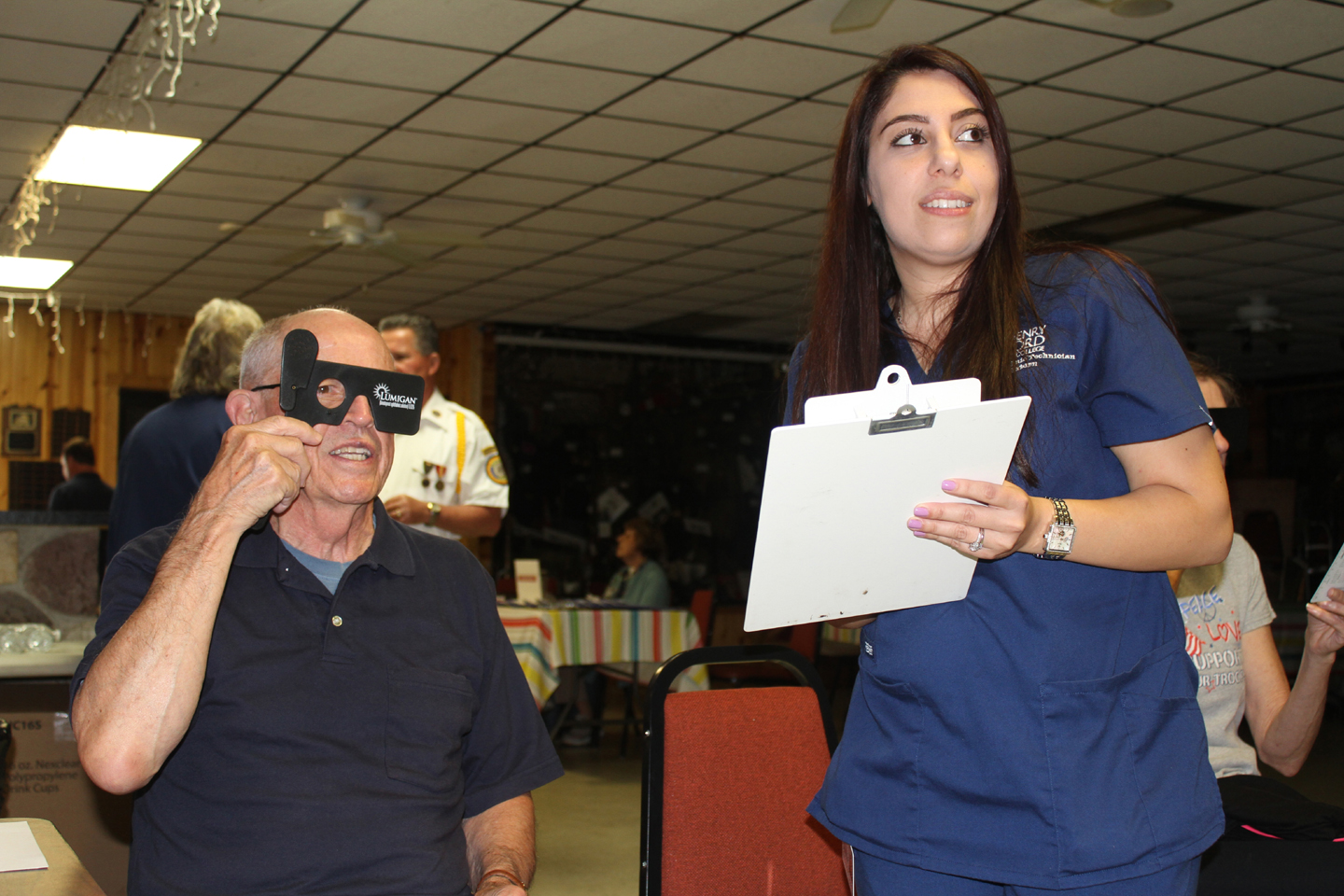 Anyone who wants a free eye exam will be able to get one on Oct. 13 at American Legion Post 108. Photo by C.J. Carnacchio.