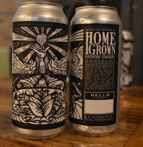 HomeGrown cans bear a unique label created by Jeff Powers, its general manager. Photo by C.J. Carnacchio.