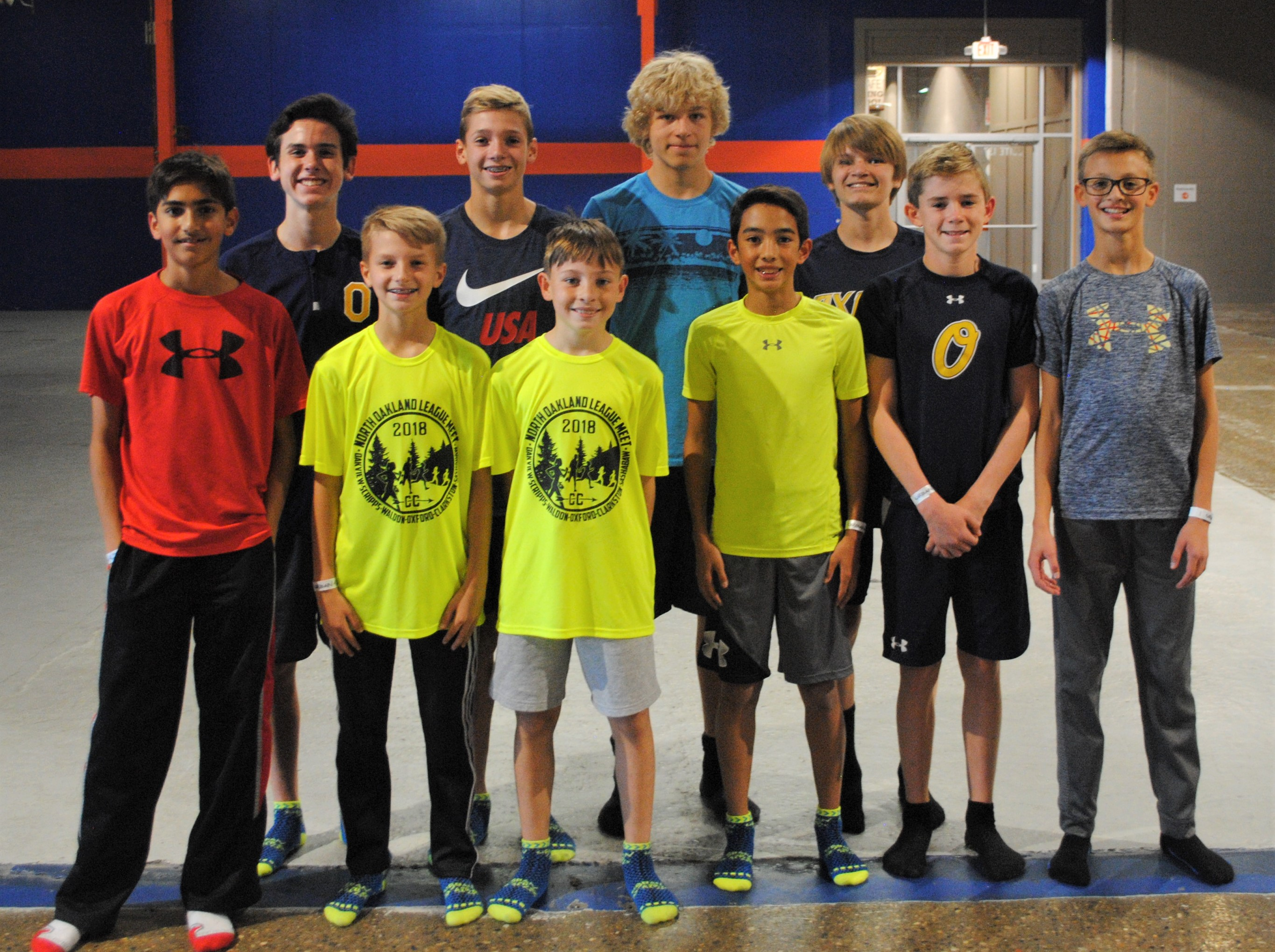 Front row (from left): Abdullah Ali, Jake Bunting, Jack Dysarz, Kyle DiMalanta, Jack Bauman and Aaron Schiller. Back row (from left): Xavier Clark, Dylan Stone, Jason Lavender and Hunter Burbas. Photo by Shelby Tankersley.