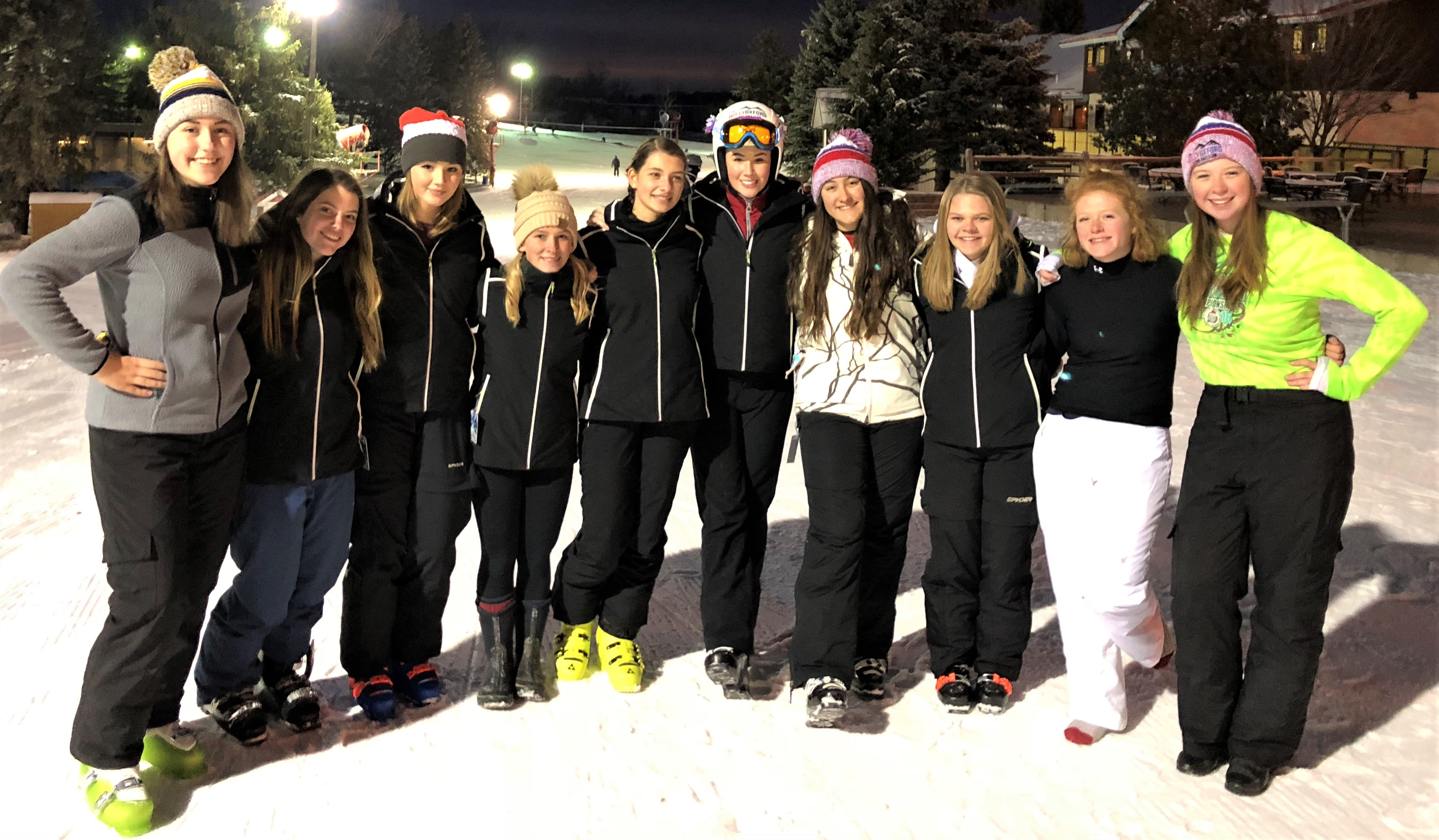 From left, Natalie Morehouse, Melanie Kerbelis, Natalie Nichols, Emma Kerbelis, Marie Contzen, Mackenzie Nichols, Jenna Stepek, Hannah Kwapis, Lauran Mauser and Renee Johnston. Photo provided.