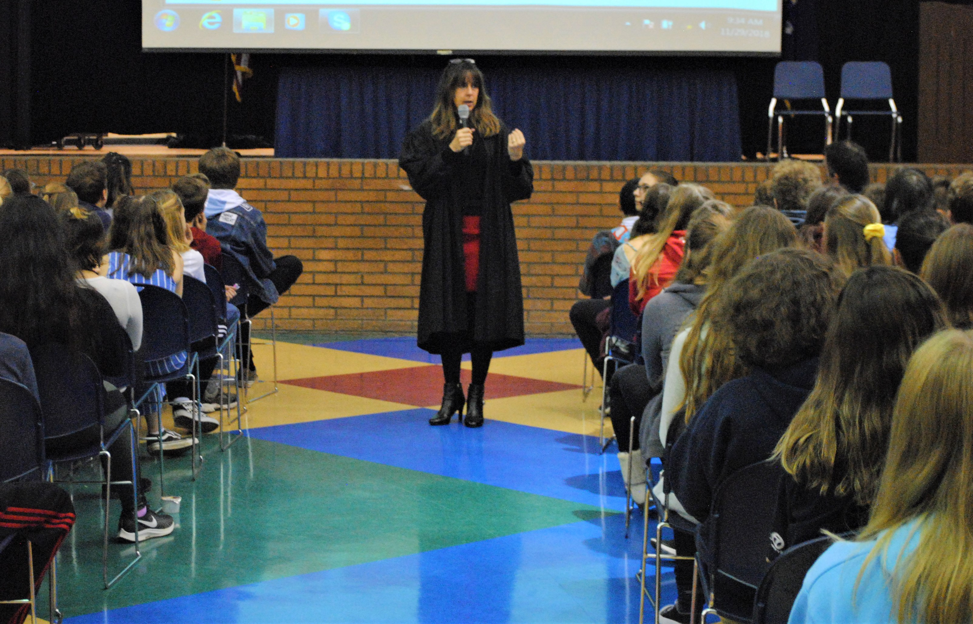 52-3 District Judge Julie Nicholson has been talking to middle and high school students about life-altering choices for the past 22 years. Photo by Shelby Tankersley.