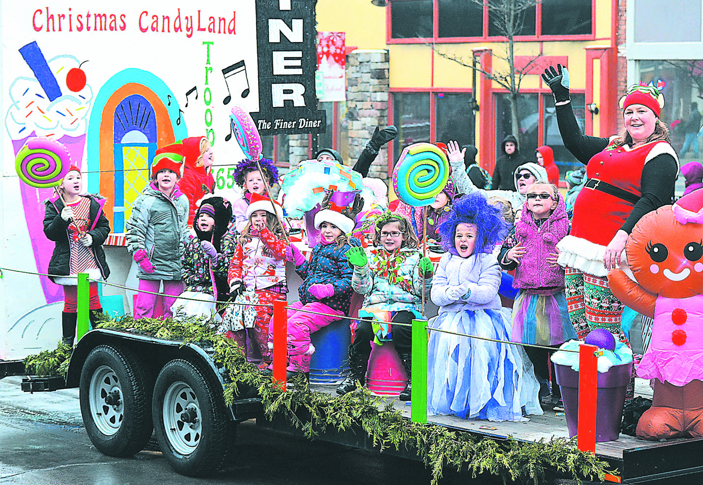 5-1 Diner's parade entry looked sweet enough to eat. It was named Most Creative. Photo by C.J. Carnacchio.