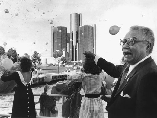 Here's a picture of Mayor Coleman Young that the Detroit Free Press ran. I found it online.