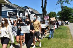 Protestors-march-along-Pleasant-St.
