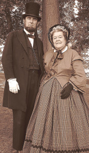 Fred and Bonnie Priebe, of Belleville, have been portraying Abraham and Mary Todd Lincoln since 1996. Photo provided.