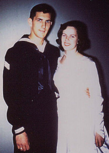 Addison residents Bob and Gwen Godkin as they looked when they were married in 1956.