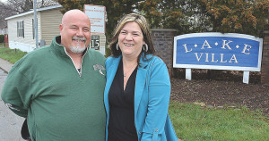 Meet the Lake Villa Manufactured Home Community's new manager Edith Belen (right) and her husband, Glenn, the park's new maintenance supervisor. Photo by C.J. Carnacchio.