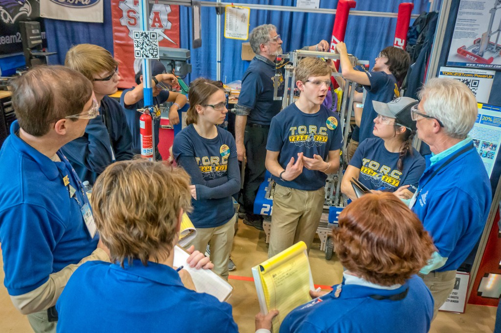 Team 2137 TORC competes at a district event in Belleville.