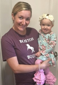 Laura Holt with her 2-year-old daughter Lucy. Surgeries at Boston Children's Hospital saved Lucy's life twice. Photo provided.