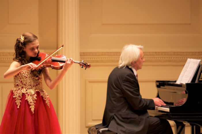 Eighth-grade violinist performs at Carnegie Hall
