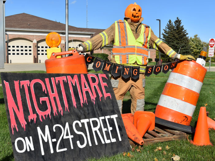 One, two, the orange barrels are coming for you . . .