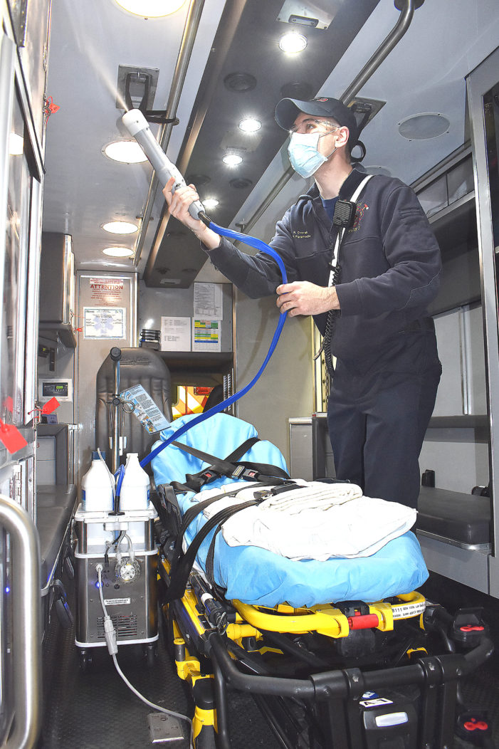 Fire Department awarded grant for electrostatic sprayers