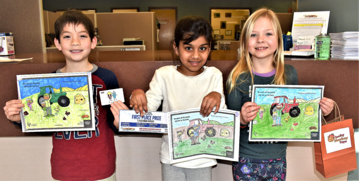 Kids Count Coloring Contest winners