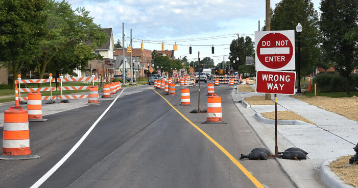 M-24 southbound  lane finally switched
