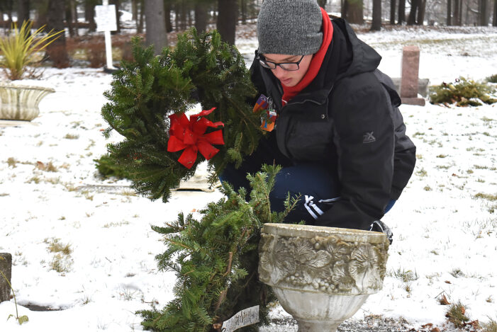 Wreaths placed in remembrance