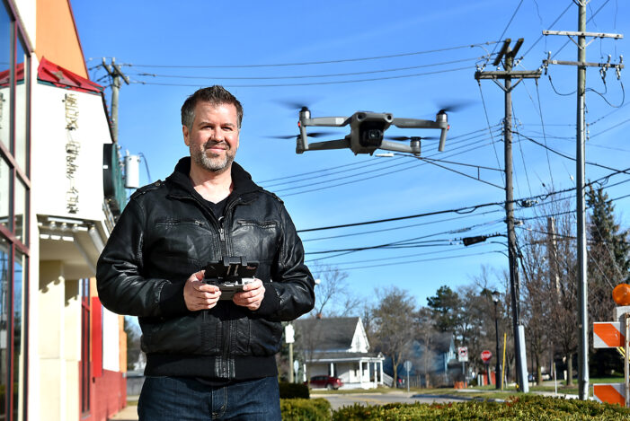 Drone pilot documents M-24 progress