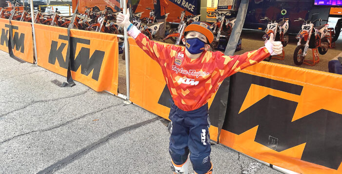 Shines on national Junior Supercross stage