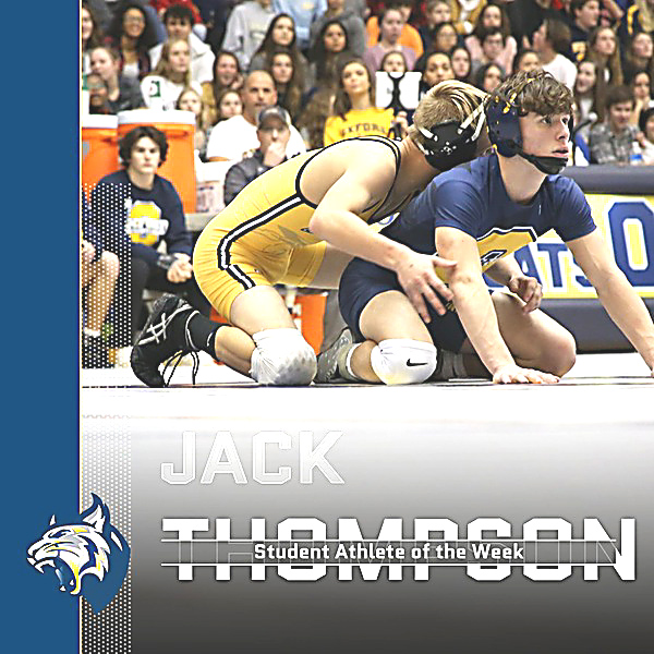 Athlete of the Week: Jack Thompson – Wrestling