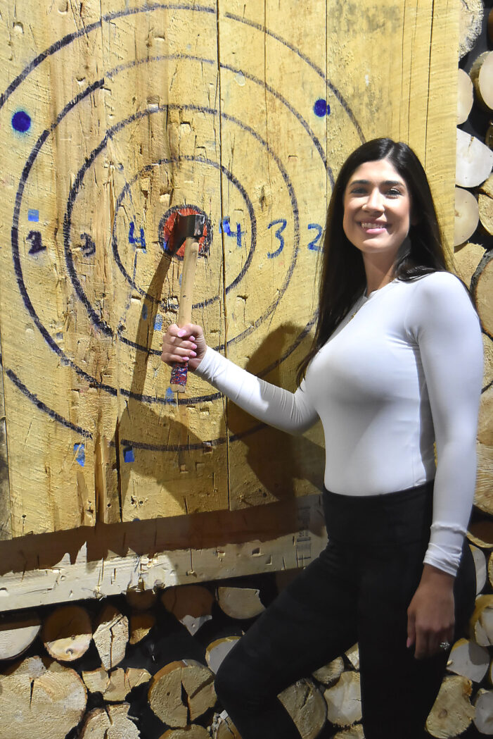 Axe-throwing bar opens in Legacy Center